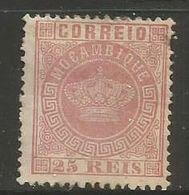 Mozambique- 1876 Crown 25r MH * - Mozambique