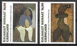 GROENLAND    -   1997  .  Y&T N° 290 / 291 **.    Peintures De Aage Gitz Johansen. - Neufs