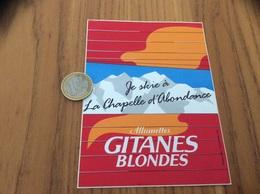 """AUTOCOLLANT, Sticker * """"Allumettes GITANES BLONDES - Je Ski à La Chapelle D'Abondance (74)"""" - Aufkleber"""