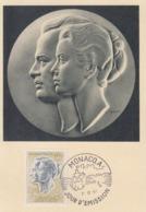Carte  Maximum  1er  Jour    MONACO    Couple  Princier   POSTE  AERIENNE  1967 - Cartoline Maximum