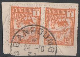 INDOCHINE - LAOS - Oblitération BANPOUNG Sur Fragment - Indochine (1889-1945)