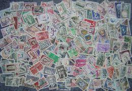France Lot Vrac 1700 Timbres Oblitérés Entre 1957 Et 1994, Majorité Avec Cachet Rond, Petits - Grands Formats Différents - Briefmarken