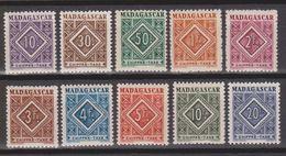 Madagascar Taxe (yt) N° 31 à 40  Neufs  ** - Madagascar (1889-1960)