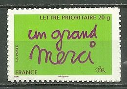 "FRANCE MNH ** Adhésif Autocollant  52B Timbre De Message ""un Grand Merci"" - Sellos Autoadhesivos"