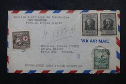 HAITI - Enveloppe De Port Au Prince Pour La France En 1948, Affranchissement Varié  -  L 64331 - Haití