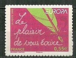 FRANCE MNH ** Adhésif Autocollant  207 Europa L'écriture D'une Lettre Le Plaisir De Vous écrire - Sellos Autoadhesivos