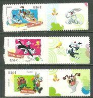FRANCE MNH ** Adhésif Autocollant 271-273 (268-270) Looney Tunes Fête Du Timbre 2009 - Sellos Autoadhesivos