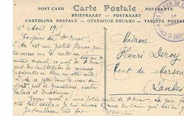 Chemins De Fer De Campagne-7 Eme Section-le Commandant- Sur Cpa De Saint-omer - Marcophilie (Lettres)
