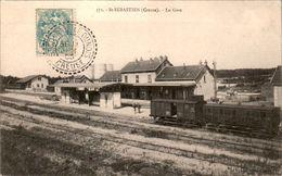 St-Sébastien Canton De Dun-le-Palestel La Gare The Train Station - CREUSE 23160 N° 371 Cpa Voyagée En 1905 En TB.Etat - France