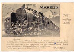 (jouets) Carte Postale MARKLIN (Orsat Fr 63 Bd Hausmann Paris)   1938 (PPP23331) - Jeux Et Jouets