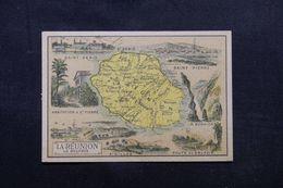 FRANCE - Chromo - Carte De L'île De La Réunion -  L 64336 - Géographie