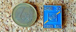 Pin's VOLVO SAMI 35 CESSON 1992 - Peint Cloisonné - Fabricant Inconnu - Pin's