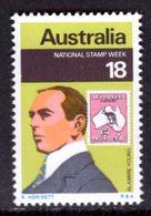 AUSTRALIA - 1976 NATIONAL STAMP WEEK 18c STAMP ON STAMP FINE MNH ** SG 633 - Mint Stamps