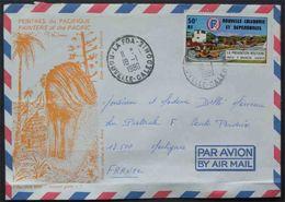 NOUVELLE CALEDONIE - LA FOA / 1980 PA # 177 SUR LETTRE AVION ILLUSTREE POUR LA FRANCE (ref 1593) - New Caledonia