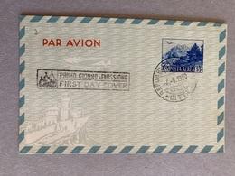 San Marino Posta Aerea A2 55 Lire FDC - Postwaardestukken