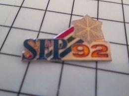 513a Pin's Pins / Beau Et Rare / THEME : JEUX OLYMPIQUES / SFP 92 ALBERTVILLE FLOCON DE NEIGE Par PRODIMPORT - Juegos Olímpicos