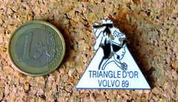 Pin's VOLVO TRIANGLE D'OR VOLVO 1989 - émaillé - Fabricant Inconnu - Pin's
