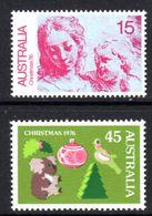 AUSTRALIA - 1976 CHRISTMAS SET (2V) FINE MNH ** SG 635-636 - 1966-79 Elizabeth II