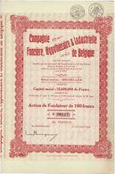 Titre Ancien - Compagnie Foncière, Hypothécaire & Industrielle De Belgique - Société Anonyme -Titre De 1930 - - Bank & Versicherung