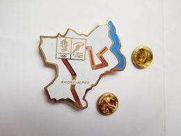 Beau Pin's , JO , Jeux Olympiques Albertville 92 , Parcours De La Flamme Rhône Alpes - Juegos Olímpicos