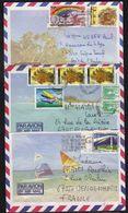 NOUVELLE CALEDONIE /  1986/87 - 3 LETTRES AVION POUR LA FRANCE (ref 2434) - Nouvelle-Calédonie
