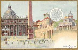 Italie Rome (Roma) - Place Saint-Pierre église Colorisé 1903 TB - San Pietro