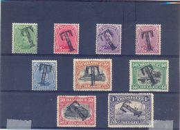Nrs. TX17/TX25 MH * 70 Côte - Postzegels