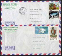 POLYNESIE - PAPEETE / 1982-1983  - 2  LETTRES AVION POUR L ALLEMAGNE (ref 3245) - Polynésie Française