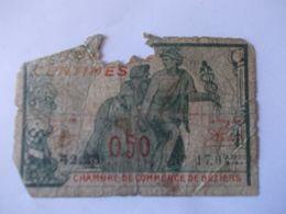 BILLET 50 Centimes Chambre Du Commerce 1921 - Chamber Of Commerce