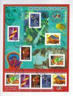 BF 39 Le Siècle Au Fil Du Timbre Oblitéré 2001 - Sheetlets