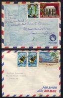 NOUVELLE CALEDONIE / 1970 & 1979 - 2 LETTRES AVION POUR LA FRANCE (ref 6109) - Lettres & Documents