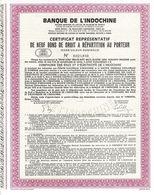 Titre Ancien - Banque De L' Indochine - Société Anonyme -Titre De 1970 - - Bank & Versicherung