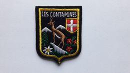 Ecusson LES CONTAMINES - Ecussons Tissu