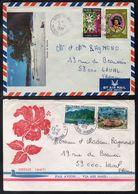 POLYNESIE FRANCAISE / 1977-1978 - 2 LETTRES AVION POUR LA FRANCE (ref 5135) - Lettres & Documents