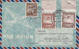 CHILI 1953  PLI AERIEN DE CONCEPCION   POUR PFORZHEIM - Colombia