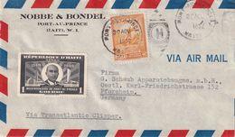 HAITI 1952   PLI AERIEN DE PORT AU PRINCE    POUR PFORZHEIM - Haití