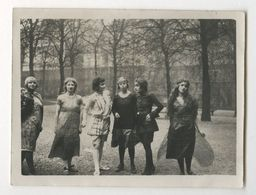 PHOTO ANCIENNE Femme Groupe De Femmes Déguisées Travesti Travestissement Papillon Costume De Théâtre Fête ? 1930 - Personnes Anonymes