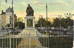 Roumanie Bucarest (Bucuresti)  - Statue De C.A.Roseti (Rosetti) Colorisé 1913 BE - Rumänien