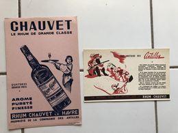 Buvards Histoire Antilles 2 Et 5 Rhum Chauvet Lot De 2 - Vloeipapier