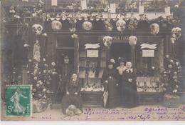 Carte Photo Granville  50 Manche Rare Boutique Commerce  Mercerie 56 Rue Des Juifs  Prix Des Vitrines 1908  Prix Fixe - Granville