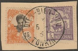 INDOCHINE - TONKIN - Oblitération DIEN BIEN PHU Sur Fragment - Indochine (1889-1945)