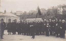 Carte Photo Granville 50  Départ Régiment Belge   Guerre 1914 1918   Discours Du Maire à La Gare  Circulée  10 09 1916 - Granville