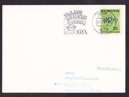 Germany: Postcard, 1973, 1 Stamp, Europa, CEPT, Cancel TV Show 'Game Without Borders', ARD Television (traces Of Use) - [7] Federal Republic