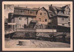 """Bad Kösen (Saale) Photokarte Hotel Zum Wehrdamm Und Hotel Inselpark, SoSt. """"Bad Aller Schaffenden"""" - Bad Koesen"""