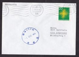 Germany: Cover, 1970, 1 Stamp, Religion, Curious Blue Cancel Berlin, Ship Cancel? (traces Of Use) - [7] Federal Republic