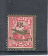 #04 Great Britain Lundy Island Stamps 1943 IX Anniversary Cat #47(f) Broken Y - Emissione Locali