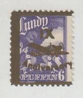 #09 Great Britain Lundy Island Puffin Stamps 1943 IX Anniversary 6p Cat #52 Mint - Emissione Locali