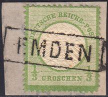 BRUSTSCHILD Nr.17a Idealer Seltener Hannover-Ra1 EMDEN (bb20) - Gebraucht