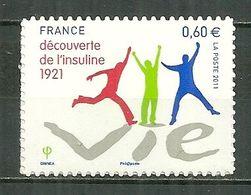 FRANCE MNH ** Adhésif Autocollant  635 (4630) Découverte De L'insuline Médecin Médecine Santé - Sellos Autoadhesivos