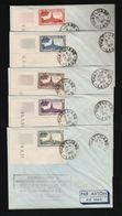 LAOS  1st  COIN DATE  COMPLETE SET  1951  ON FDC  X12v  -  EXTREMELY RARE   Ref MM - Autres - Asie